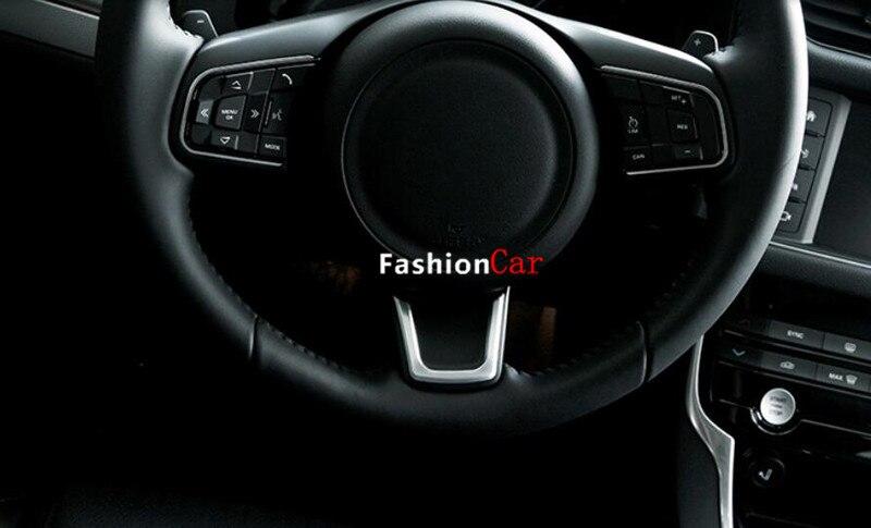 For Jaguar XE X760 2015 2016 font b Interior b font steering wheel cover trim 1pcs