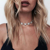 Fashion Choker Necklaces For Women Alloy Rhinestone Stars Collars Necklaces Statement Jewelry Accessories Wholesale N43891