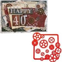 Retro Gears Frame Cutting Dies Stencil For DIY Scrapbooking Album Paper Card Photo Decorative Craft