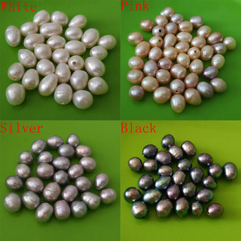 11-12mm High Luster Natural Loose Rice Pearl with 2mm Large FULL Hole,Sold by Lot,100 Pcs Per Lot