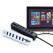 High Speed USB 2.0 HUB Combo 6 Ports Expander Multi USB Splitter With SD/TF Card Reader fo