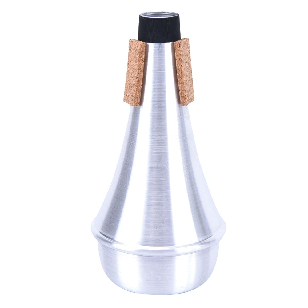 Universal Beginner Straight Practice Portable Lightweight Silver Accessories Aluminum Alloy Trumpet Mute For Jazz Instrument