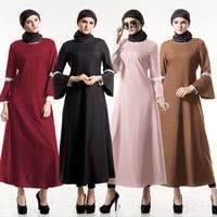 Muslim Abaya Islamic Clothes For Women Muslim Long Sleeve Maxi Dress Turkish Islamic Abaya Women Muslim