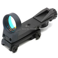 Tactical 4 Reticle Red Dot Sight Optical Scope 1X30 Riflescope 20mm Rail Hunting Gun Accessories Free Shipping