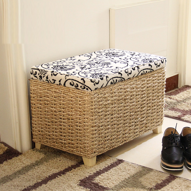 Creative Storage Stool Ottoman Home Decoration Furniture Storage Rattan  Wicker Chair Door Bench Kids Children Adult Chair  In Stools U0026 Ottomans  From ...