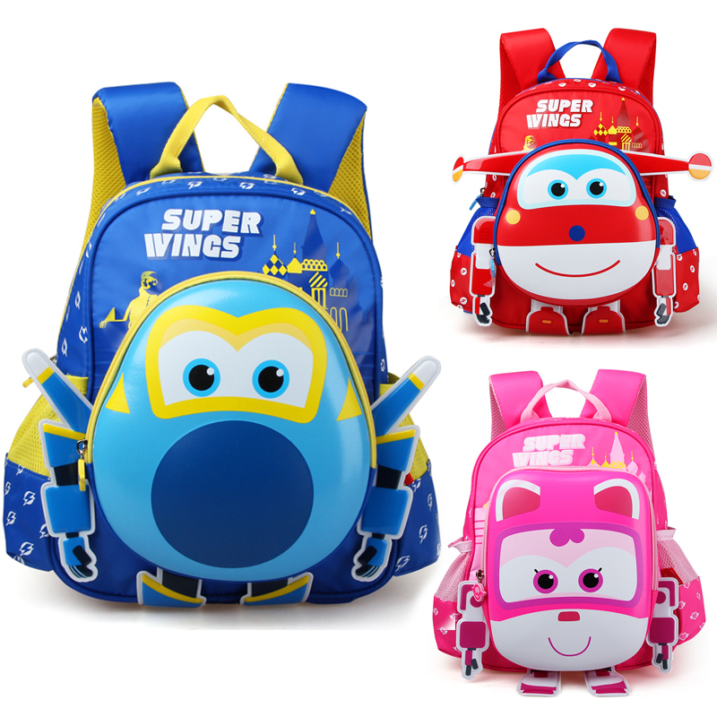 d714bc6632569 2017 Limited Anime Robot Body Backpack Toys Hobbies Baby Kindergarten Study  Stationary Super Wings Action Figure School Bag.