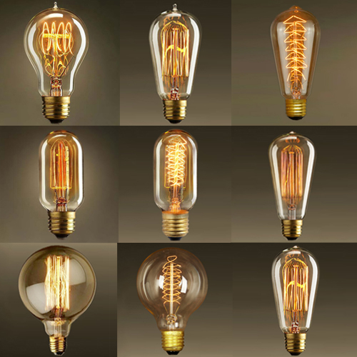 220 240v 40w E27 Retro Style Incandescent Vintage Edison Light Bulb Replace For Pendant Lamp Filament Tungsten In Bulbs From