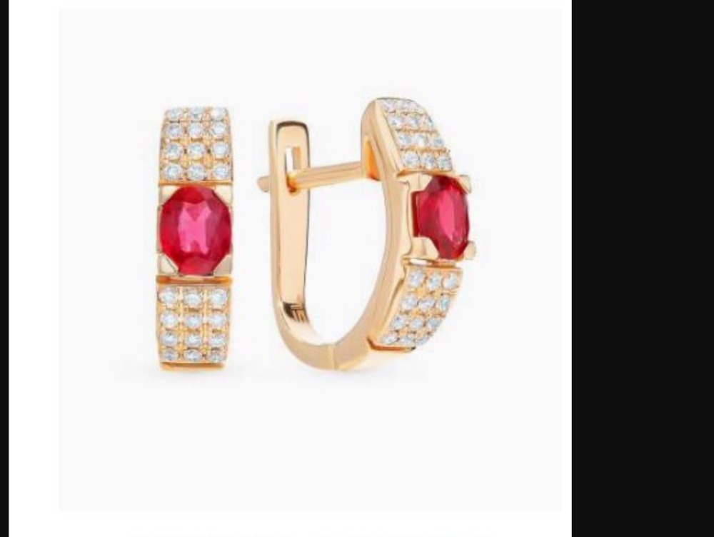Custom for band 14K yellow gold natural ruby ring and earring