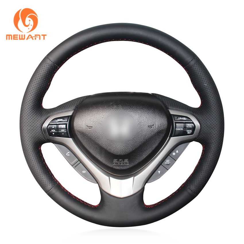 MEWANT Black Artificial Leather Car Steering Wheel Cover for Honda Spirior OId Accord mewant black artificial leather steering wheel cover for acura cl 1998 2003 mdx 2001 2002 honda accord 6 1998 2002 odyssey