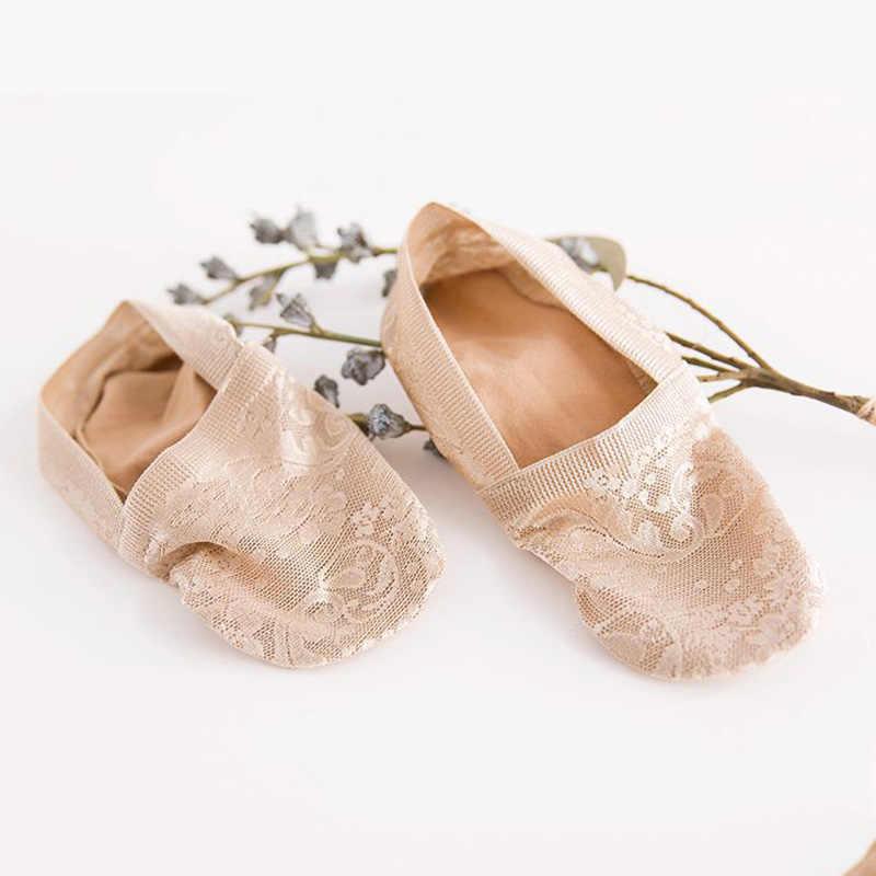 1 пара модные женские туфли для девочек ecmln летние носки Стиль кружевное платье с цветочным рисунком короткие носки противоскользящие невидимые носки по щиколотку 2019 Sox