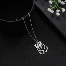My Shape New Arrival Multiple Panda Owl Pendants Chain Necklace Pendant for Women Men Silver Color Lucky Symbol Gifts