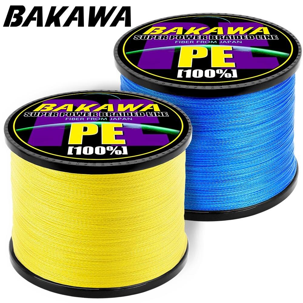 BAKAWA  Fishing Line 4 Strands PE Braided 1000 Meters Multifilament Fishing Line Rope Peche Carpe Wire 18-78lb