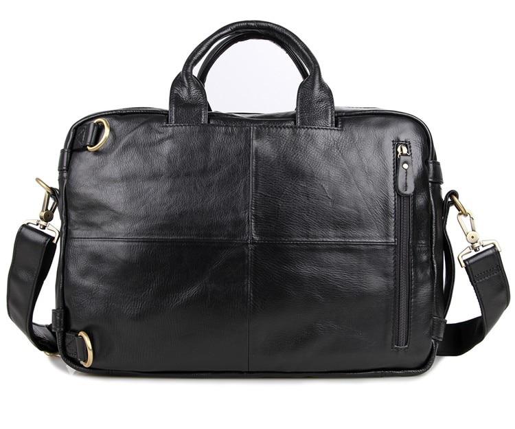 Grande taille en cuir véritable hommes d'affaires voyage Messenger sacs en cuir sacs à main pour hommes mode bureau Documents Pack sacs - 3