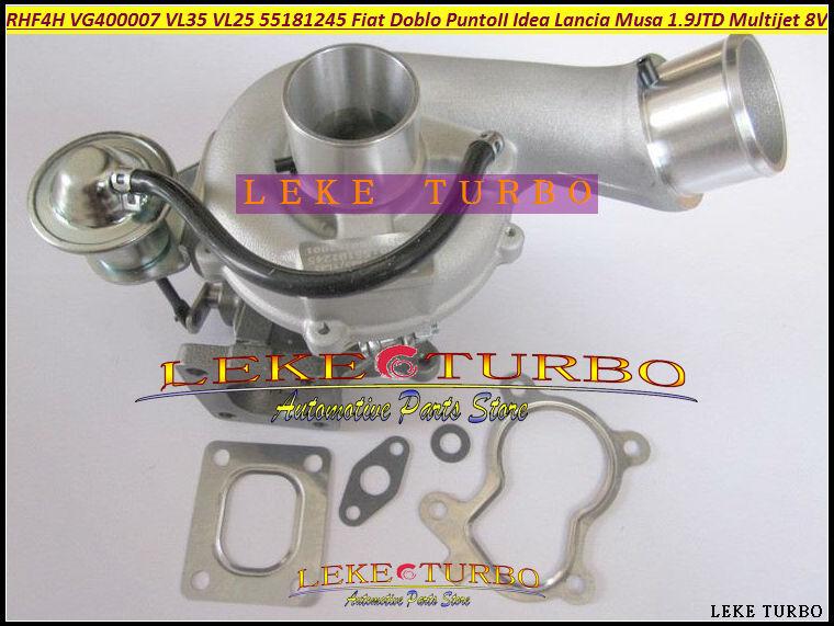 Turbo RHF4H VL25 VF400007 VL35 55181245 71793616 Turbocharger For FIAT Doblo Punto 2 Idea Lancia Musa 1.9L JTD 03-07 Multijet 8V fiat sedici 1 9 multijet