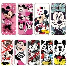 Minnie Mickey Telefon Yumuşak TPU Kılıfları Samsung Galaxy J4 Artı Kılıf Silikon 6.0