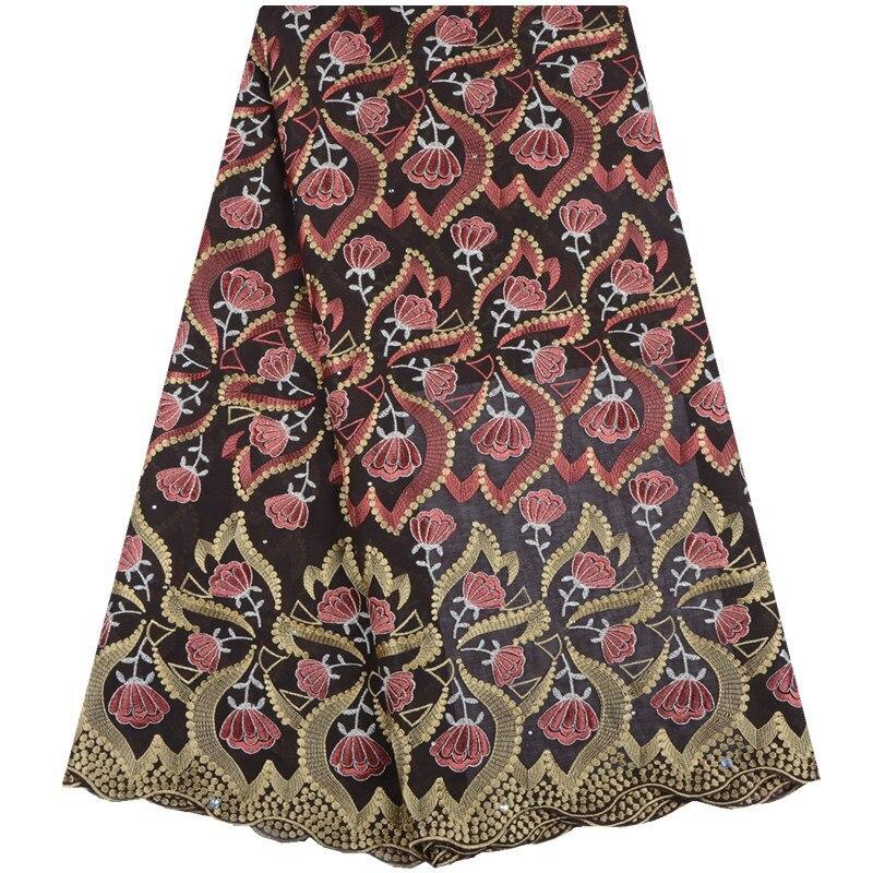 2019 nouveau Style africain dentelle tissu brodé nigérian coton dentelle tissu de haute qualité français Tulle dentelle tissu en WeddingA1547-in Dentelle from Maison & Animalerie    3