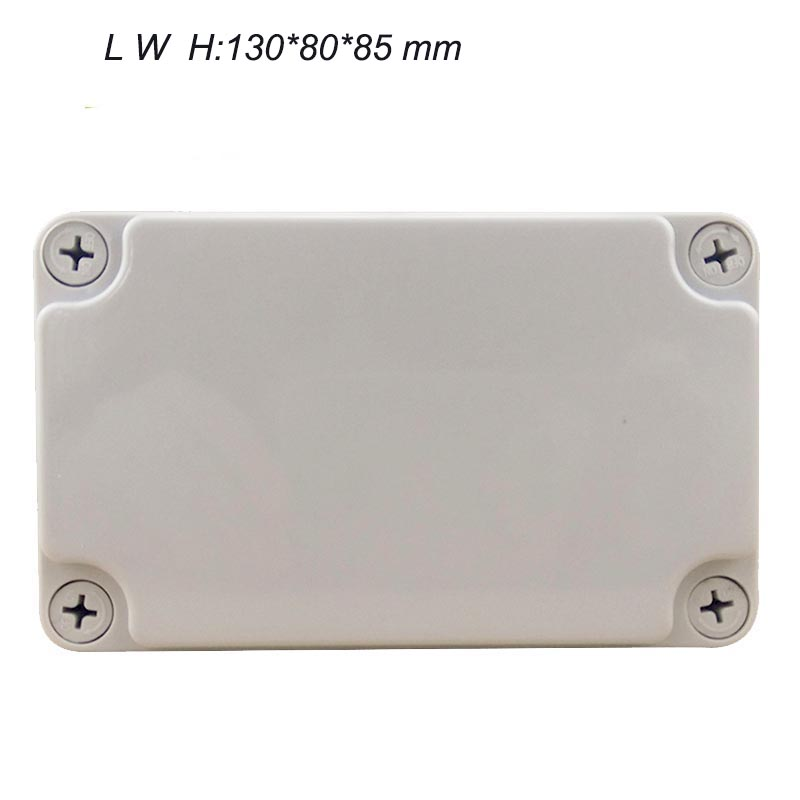 2016 Wholesale 130*80*85mm Plastic Waterproof Junction Box ABS Enclosure Terminal Blocks