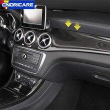 In Fibra di carbonio Style Car Center Console Aria Condizionata Della Decorazione del Pannello ABS Per Mercedes Benz GLA X156 CLA C117 2013- 18 CON GUIDA A SINISTRA