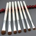 7 unids Pinceles Maquillaje Profesional herramientas de Cosméticos pincel de sombra de Ojos ojo shading Mezcla elementos esenciales de belleza cepillos kit set #85007
