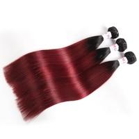 Megalook Pre Colored Ombre T1b99j Peruvian Straight Human Hair Bundles Honey Blonde Remy Hair Weave Bundle Hair Extensions