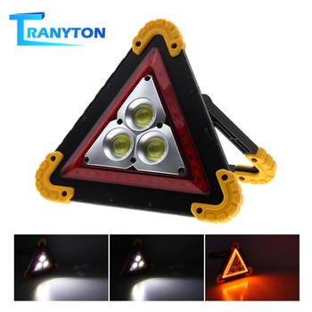Portable Emergency Light Warning Flood Light Bright COB LED Taillight Car Repair Work Lamp Safety Road Flare Emergency Lights цена 2017