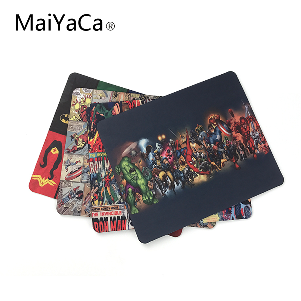 MaiYaCa Marvel Comics Superheroes Collage Customized Mouse Pad Fashion Avengers Computer Notebook Gaming Mice Mat Pad видеоигра для ps4 медиа lego marvel superheroes