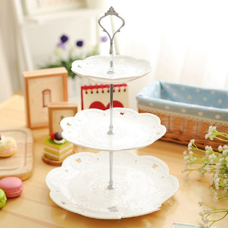 Gold/Silver 3 or 2 Tier Cake Plate Crown Stand Handle Fitting Rod Wedding Party-in Stands from Home u0026 Garden on Aliexpress.com | Alibaba Group  sc 1 st  AliExpress.com & Gold/Silver 3 or 2 Tier Cake Plate Crown Stand Handle Fitting Rod ...