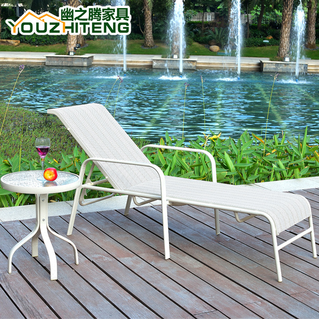 deck wrought iron table. Outdoor Deck Chair Folding Chairs Balcony, Wrought Iron Furniture, Outdoor  Garden Leisure Beach Bed Table
