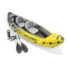 351CM Intex K2 Explorer Two Person Sit-On Inflatable Kayak 2 Person Sea River Lake Paddle Fishing Kayak Raft Boat Yellow