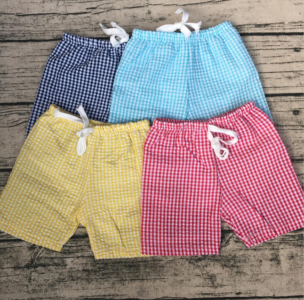 Fashion Design Swimming Shorts Baby Boys High Quality Seersucker