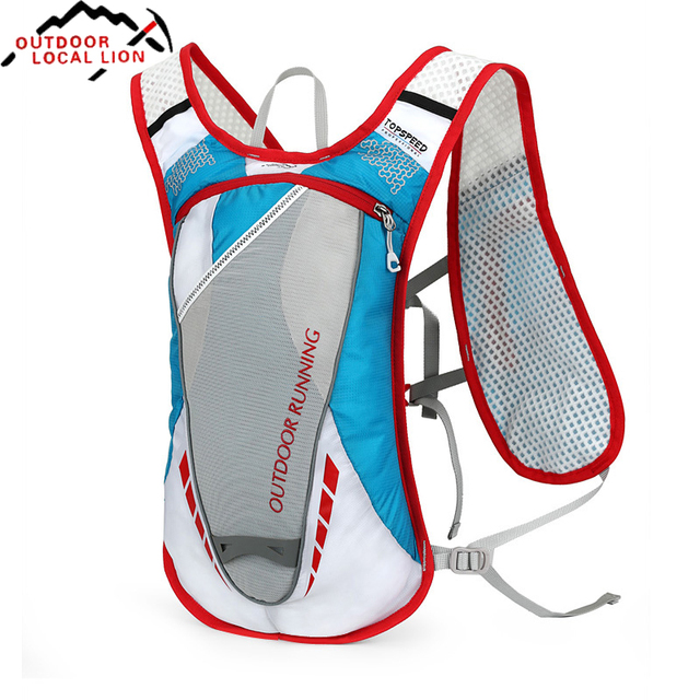 LOCAL LION Cycling Backpack for Running Hydration Bicycle Backpack Polyester Riding Bike Bags Water Bladder Bag Rucksacks