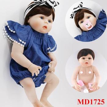 57cm Full Body Silicone Reborn Dolls fashion bathe Toys for Children Girls Adorable Birthday Gift Dolls bedtime play house doll
