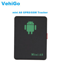 VehiGo Mini A8 GPRS/GSM Tracker Locator Real Time Car Elderly Kids Pet No GPS Tracker Tracking Device With SOS Button