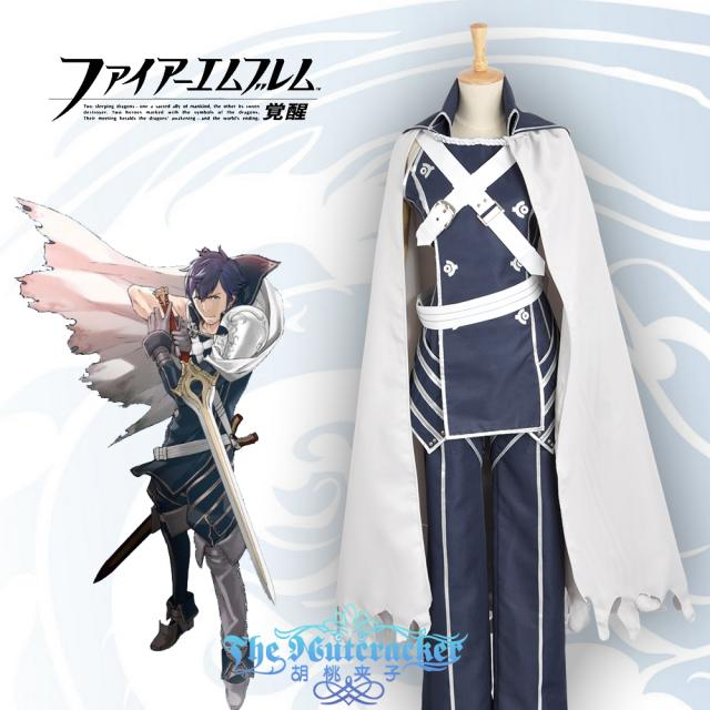 Fire Emblem: Awakening Chrome Cosplay Costume Outfit Cloak++Top+Pants+Belt+Gloves Any Size