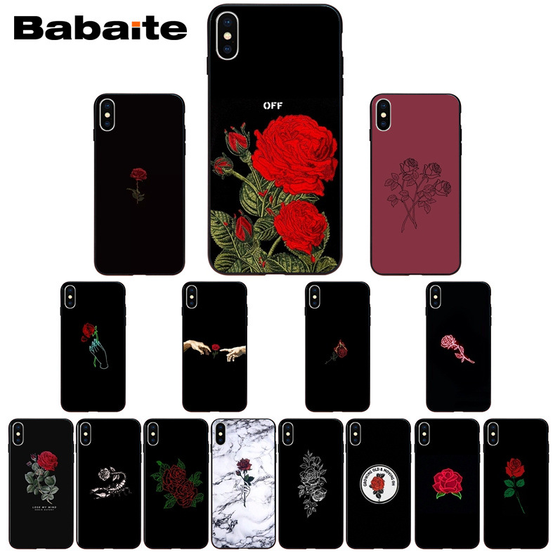 Babaite cool rose Colorful Cute Phone Accessories Case for Apple iPhone 8 7 6 6S Plus X XSMAX 5 5S SE XR Cover 11 11pro 11promax