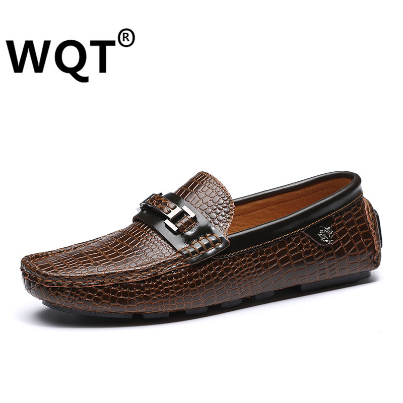 ФОТО 2016 Fashion Handmade Genuine Leather Mens Shoes Casual Soft Leather Men Loafers  Mocasines Hombre Brand Male Shoes & Men Flats