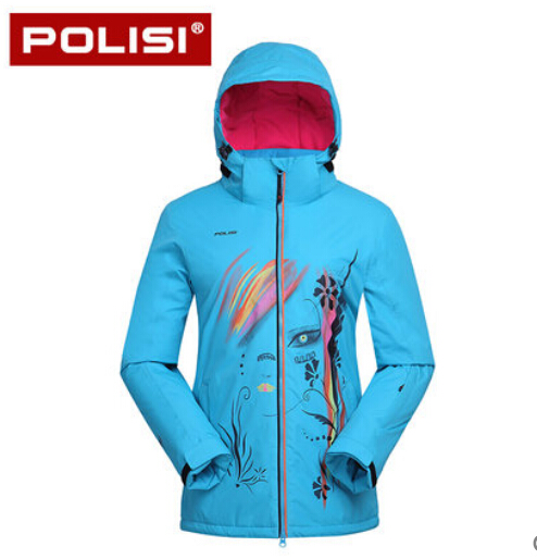 POLISI Professional Women Windproof Waterproof Ski Jacket Coats Winter Warm Outdoor Sport Snow Skiing Snowboarding Clothing