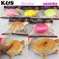 15pcs/lot  2015 new squishy breadou Jumbo Tortoise Squishy free shipping wholesaels Squishies Toys 12CM Soft Simulation Food