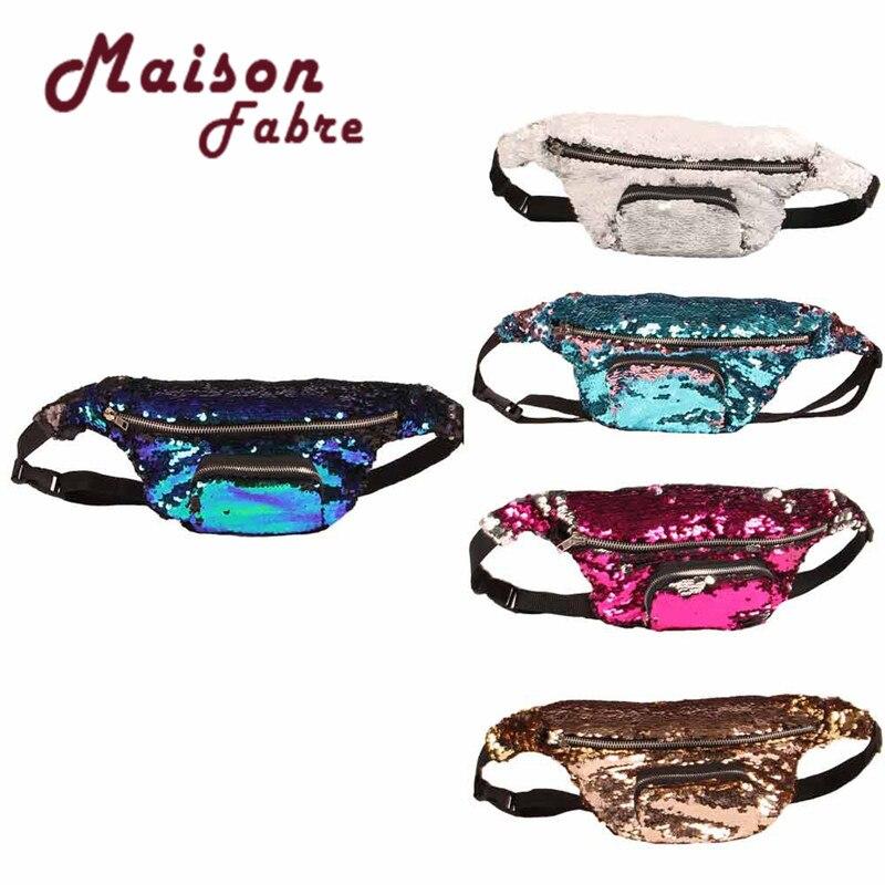 2018 Fashion Hot Wallet Unisex Park and supermarket Casual Double Color Sequins Unisex Phone Bag unisex 160
