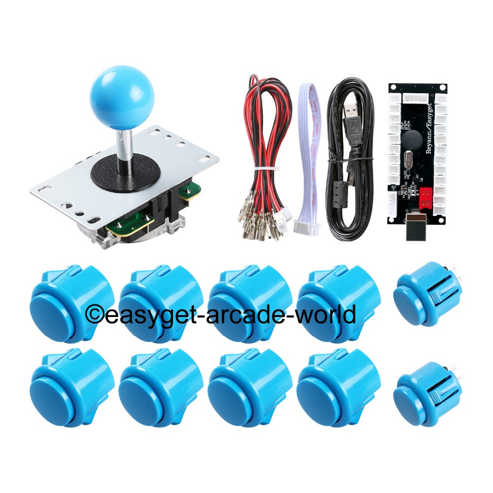 Arcade Control Panel China Sawna Joystick + 10 x Push Button + USB Encoder Board To Raspberry Pi Retropie 3 Model B Project DIY