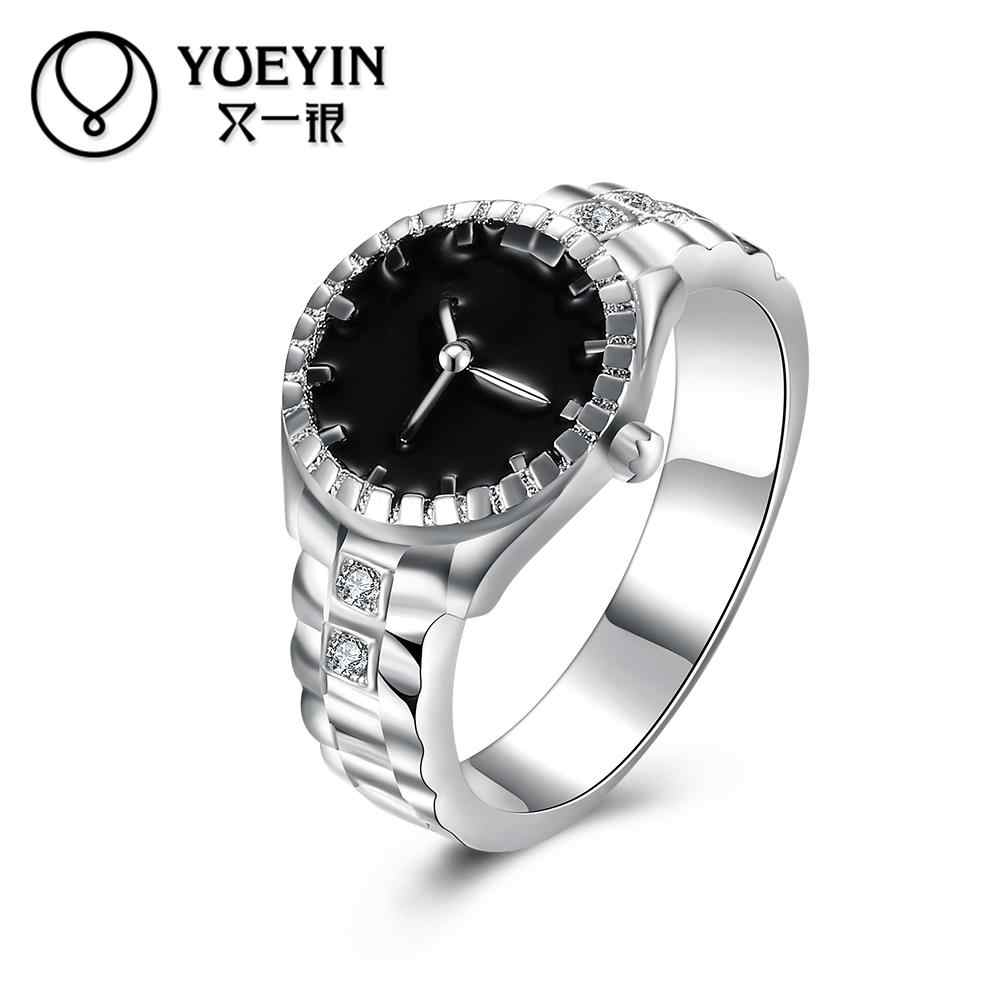 Female jewelry silver plated wedding rings jewelry for ladies anelli donna flower Not allergic Luxurious fashion rings