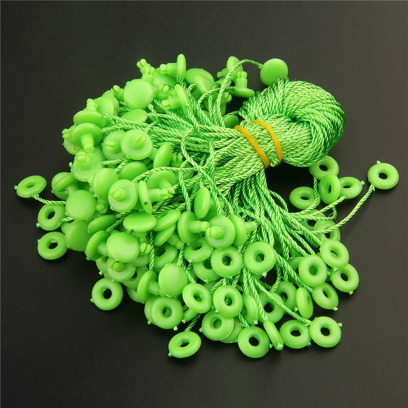 100 pcs/lot vêtement étiquette volante chaîne 7 pouces papier étiquette corde noir blanc étiquette volante corde