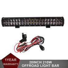 20 Inch 210W Offroad LED Light Bar Car Auto ATV UTV UTE 4X4 4WD SUV Truck Wagon Camper Pickup 12V 24V Combo Driving Headlight
