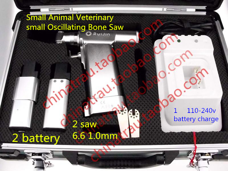 medical Small Animal orthopedic instrument Veterinary Oscillating Bone Saw Power Tool 7.2 V Hand foot Temperature Sterilization medical small animal orthopedics instrument kit 59 tool set veterinary 0 5 18kg pet 1 5 2 0 2 4 2 7 screw bone plate install ao