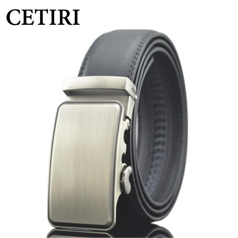 Cetiri 110cm 120cm 130cm 140cm 150cm luxo homens cintos de couro genuíno estilo negócio cinta masculina fivela automática cinto para jeans