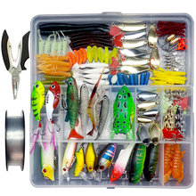 280pcs/lot Fishing Lure Set With Box Mixed Soft Lure Artificial Lure Minnow Popper Vib Spoon Frog Shad Plier Accessory A067 цена 2017
