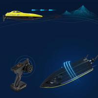 High Speed Remote Control Boat 2.4G Double Cover Waterproof High Speed Competition Speedboat Boat Sailing Ship Model Toy Gift