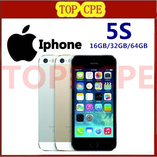 Original Factory Unlocked Apple iPhone 5S 16GB / 32GB / 64GB 8MP Camera Cellphones in Sealed Box Dual-Core1080P Free Shipping