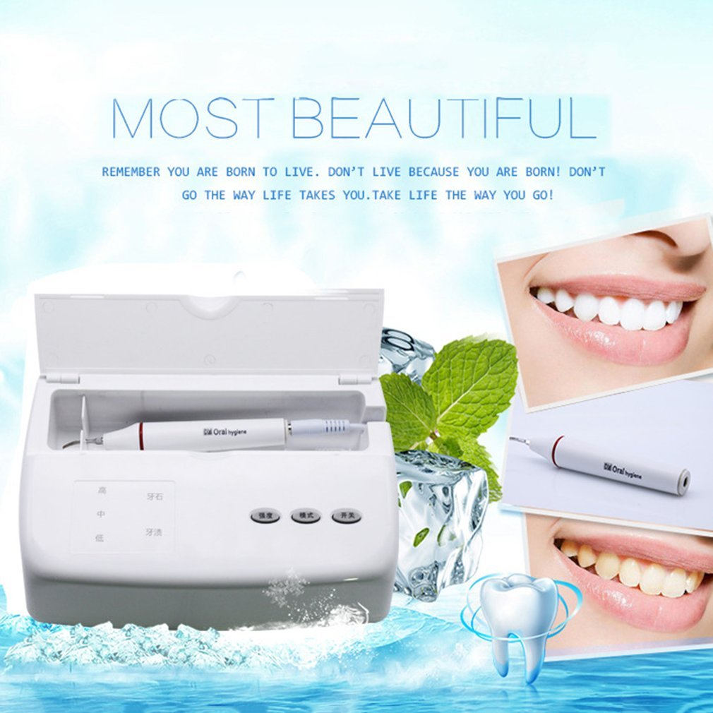 1 set Waterfree Ultrasonic Teeth Cleaning Machine Home Use Oral Irrigator Intelligent Dental Equipment Smoke Stains Remover new 100% brand new high quality 1 pcs oral irrigator teeth whitening pen remove stains cleaning tools