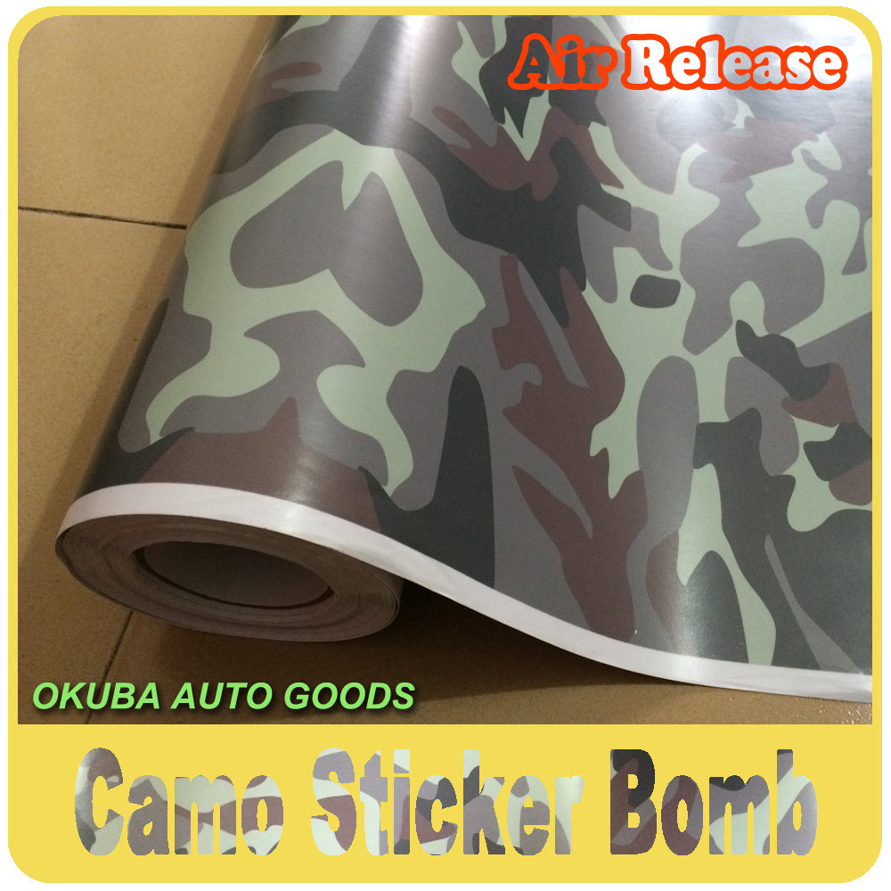 Sticker bomb car design - Wholesale 1 52 30m Camo Camouflage Vinyl Car Vinyl Wrap Film Car Sticker Bomb Design With